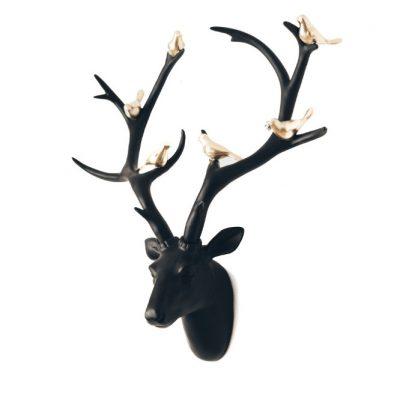 Black Deer & Birds 1