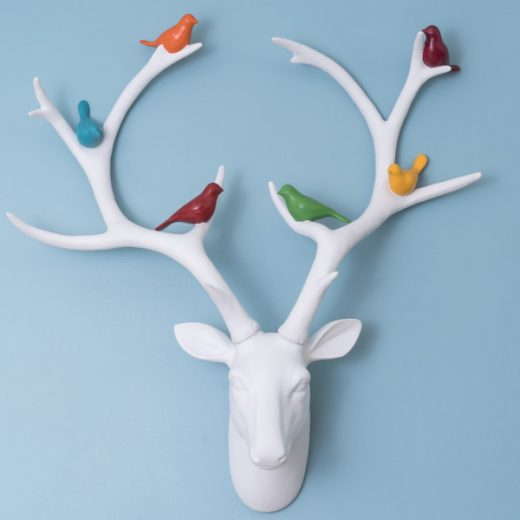 White-Deer-with-Birds