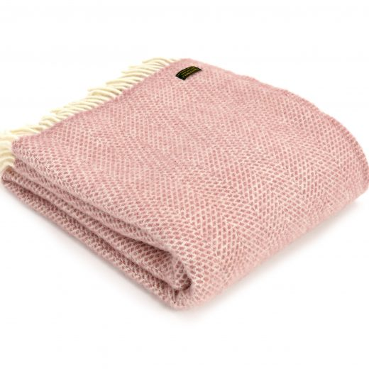 Dusty Pink Beehive Throw